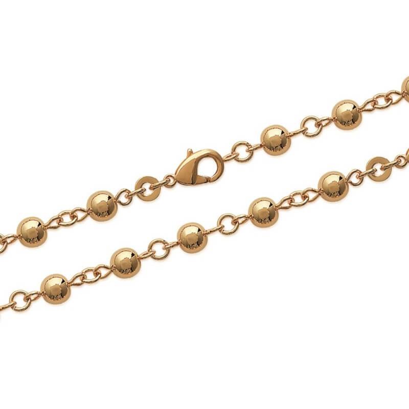Vente chaude 2019 gamme complète de spécifications prix spécial pour Collier Boules 6 MM Plaqué Or 18 carats 3 Microns Bijoux Femme