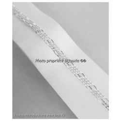 Chaîne Maille Figaro  60 cm Argent Massif 925/1000 Bijoux NEUF Homme
