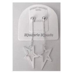 """Boucles D'oreilles """"Etoiles"""" pendantes Argent Massif 925/000 Bijoux Femme"""