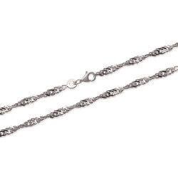 Bracelet  Maille Singapour 18 cm En Argent Massif 925/000 Bijoux Femme