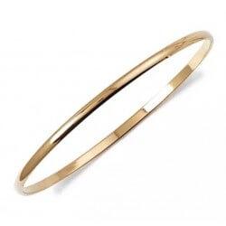 Bracelet  Demi Jonc Rigide  Plaqué Or 18 CARATS  3 Microns  6,2cm Bijoux Femme