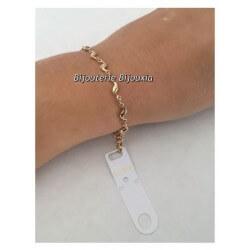 Bracelet Goutte D'eau  Plaqué Or 18CARATS  3 Microns Garanti 10 Ans Bijoux Femme
