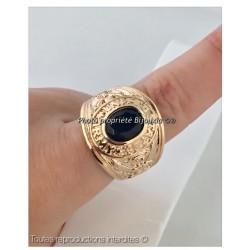 BAGUE Chevalière HOMME Plaqué OR 18 carats Neuve