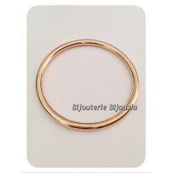 Bracelet Jonc Épais Plaqué Or 18Carats Garanti 10 Ans 6,6cm Bijoux Femme