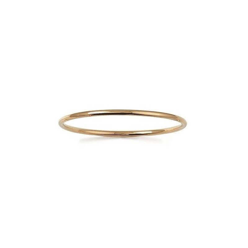 Bracelet Jonc Plaqué Or 18 Carats  Garanti 10 Ans  6,6 cm x 3MM  Bijoux Femme