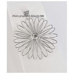 Magnifique Pendentif FLEUR Cristal Zirconium Argent 925/1000 Bijoux Femme