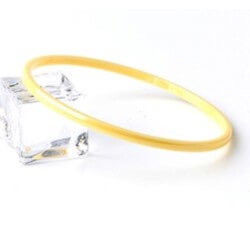 Origninal - Bracelet Jonc Pure Céramique de couleur jaune clair  Bijoux Femme