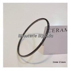 Bracelet Jonc Lisse Pure Céramique de couleur Noire Bijoux Femme