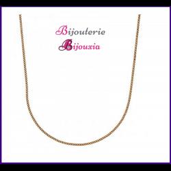 Chaîne Maille gourmette Plaqué Or 18 carats Garanti 10ans 42 cm Bijoux Femme