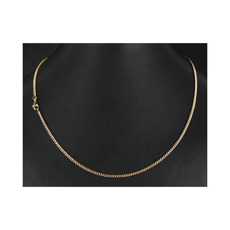 554245b4abf293 Chaîne Maille Gourmette Plaqué Or 18 carats Garanti 10 ans 50 cm x 2MM  Bijoux