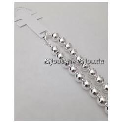 Bracelet Boules LARGE 1CM X 21CM Argent massif 925/1000 Bijoux femme