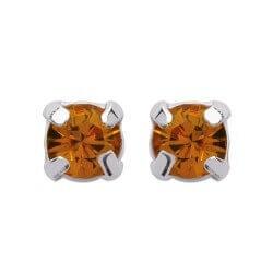 Boucles d'oreilles puces Zirconium - Couleur Largeurs CHOIX  Argent Massif 925