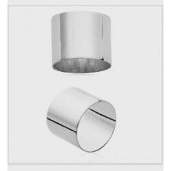 Bague Alliance Cylindre Argent Massif 925/1000  Bijoux Homme/Femme MIXTE
