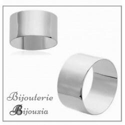Bague Alliance épaisse Cylindre Argent Massif 925/1000  Bijoux MIXTE NEUF