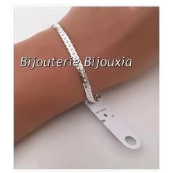 Bracelet Maille Anglaise plate En Argent Massif 925/1000 - Bijoux Femme