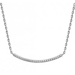 Collier Glamour Argent Massif 925/000 Rhodié Oxyde de Zirconium  Bijoux femme