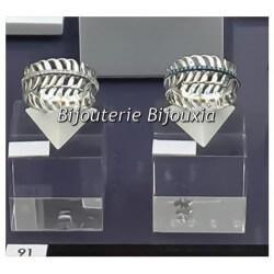 Bague Feuille Turquoise Empierrée Argent Massif 925/1000 Bijoux T50-52-54-56-58