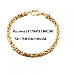Bracelet Maille Palmier Plaqué Or 18 Carats Garanti 10 ans Bijoux Femme