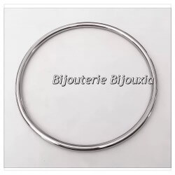Bracelet Jonc Lisse  En Acier Inoxydable 316L 6,6cm  Bijoux Femme