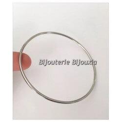 Bracelet Jonc Lisse En Acier Inoxydable 316L - 6,2 CM Bijoux Femme NEUF
