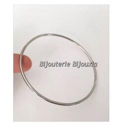Bracelet Jonc Lisse En Acier Inoxydable 316L 6,2 CM Bijoux Femme NEUF