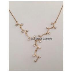 Bracelet Branches 17 Cristaux ZIRCONIUM Plaqué Or 18 carats 750/000 Bijoux femme