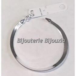 Bracelet Fin Maille Miroir En Argent Massif 925//000 Bijoux Femme