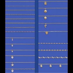 Chaînes Cheville en Plaqué or 18 Carats Large CHOIX de modèles et de Mailles