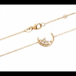 Bracelet Croissant de lune Oxyde de Zirconium Plaqué or 18 CARATS Bijoux