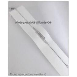Bracelet CHIC Double Barrettes ZIRCONIUM Argent Massif 925/000 Bijoux MICROSERTI