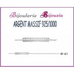 Bracelet CHIC Barrette ZIRCONIUM Argent Massif 925/000 Bijoux MICROSERTI