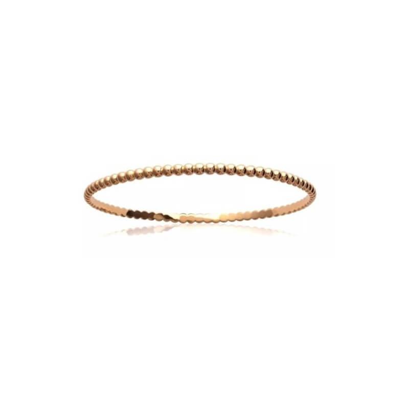 Bracelet Jonc Billes 6,4 cm Plaqué or 18 CARATS 750/1000  Bijoux Femme NEUF