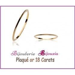Bracelet Jonc Épais  6,2 cm Plaqué or 18 CARATS 750/1000 Poinçon  Bijoux Femme