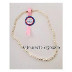 Collier Perle De Majorque  Plaqué Or 18Carats 750/1000   45 cm  Bijoux Femme