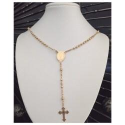 Collier Chapelet 46 cm et chaîne boules Plaqué Or 18 Carats Bijoux Femme