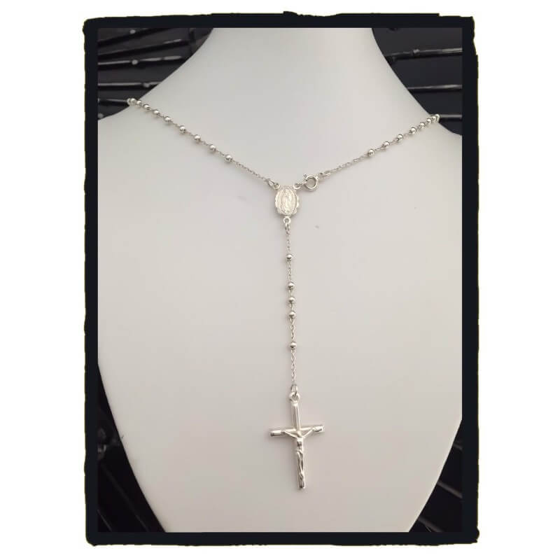 Argent Sterling 925 Jésus Pendentif 20; collier long pour homme pour femme