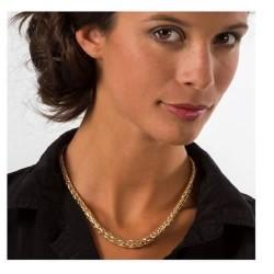 Collier Maille Palmier Plaqué Or 18 Carats Garanti 10 ans Bijoux Femme NEUF
