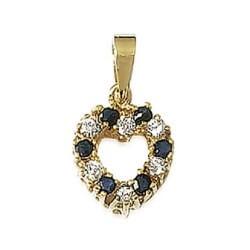 Pendentif coeur OZ Plaqué Or 18 carats Garanti 10 Ans Poinçon Bijoux Femme
