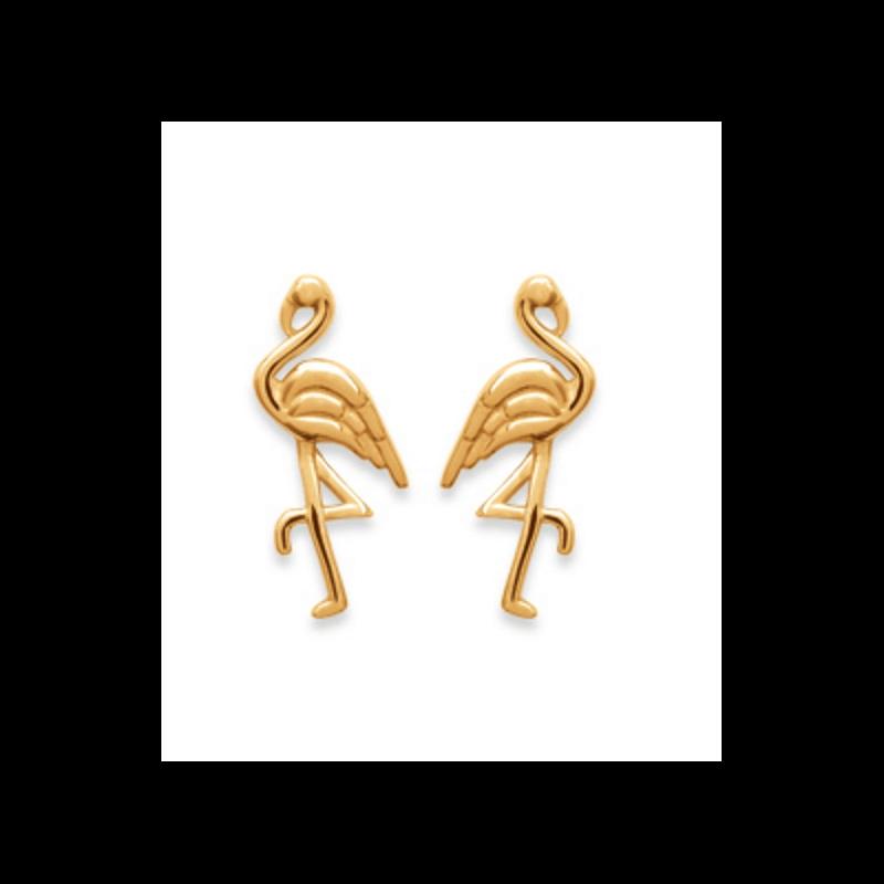 Collier Pendentif Flamant Rose En Plaqué or 18 CARATS 750//1000 Bijoux Femme