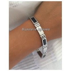 Bracelet Homme Tendance  Acier inoxydable 316L Carbone - Bijoux NEUF