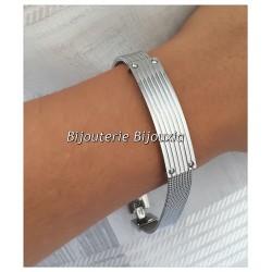 Bracelet Homme Moderne en Acier inoxydable 316 L - Mode - Bijoux NEUF