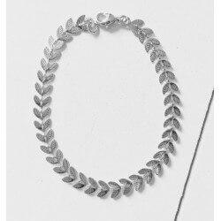 Bracelet souple fantaisie en Argent Massif 925/000 Bijoux Femme Neuf