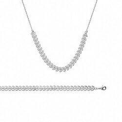 Collier souple fantaisie en Argent Massif 925/000 Bijoux Femme Neuf