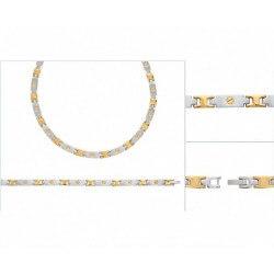 Bracelet Moderne Acier inoxydable Et Plaqué or 18 Carats 750/1000 Bijoux Homme