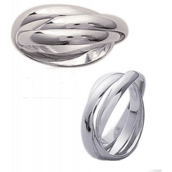 Bague 3 anneaux Argent Massif 925/1000 Bijoux femme/homme Tailles 50 à taille 70