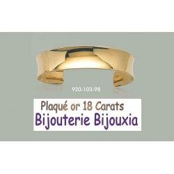 Bracelet Jonc OUVERT - Plaqué Or 18 Carats 750/1000 Garanti 10 ans Bijoux Femme