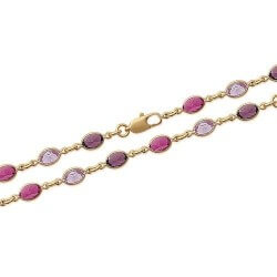 Bracelet cristal De Swarovski couleur Violet Plaqué Or 18 Carats Bijoux Femme