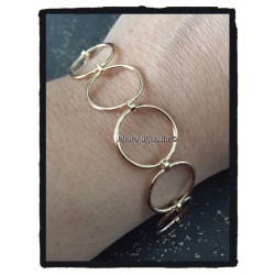 Bracelet Maillons Ronds En...