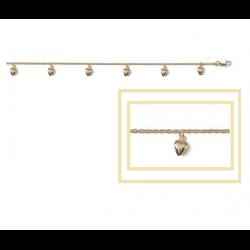 Bracelet Pampille Cœurs...
