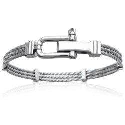 Bracelet Jonc HOMME Acier...